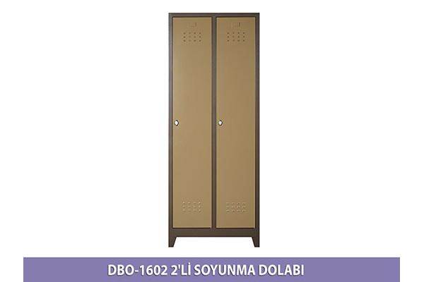 1602 İKİLİ SOYUNMA DOLABI